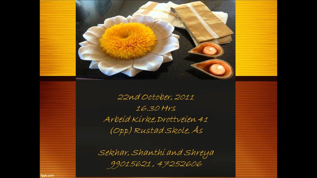 Sankalps Panchalu Invite - YouTube