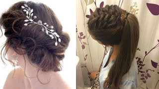 Latest Beautiful hairstyle for Long Hair girls | Bun hairstyles for Girls #1