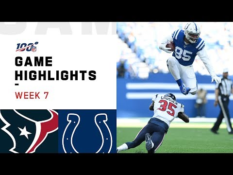 Texans vs. Colts Week 7 Highlights | NFL 2019