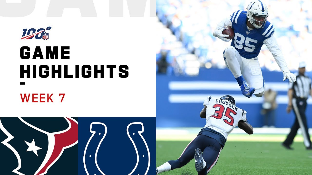 Texans Vs Colts Week 7 Highlights Nfl 2019