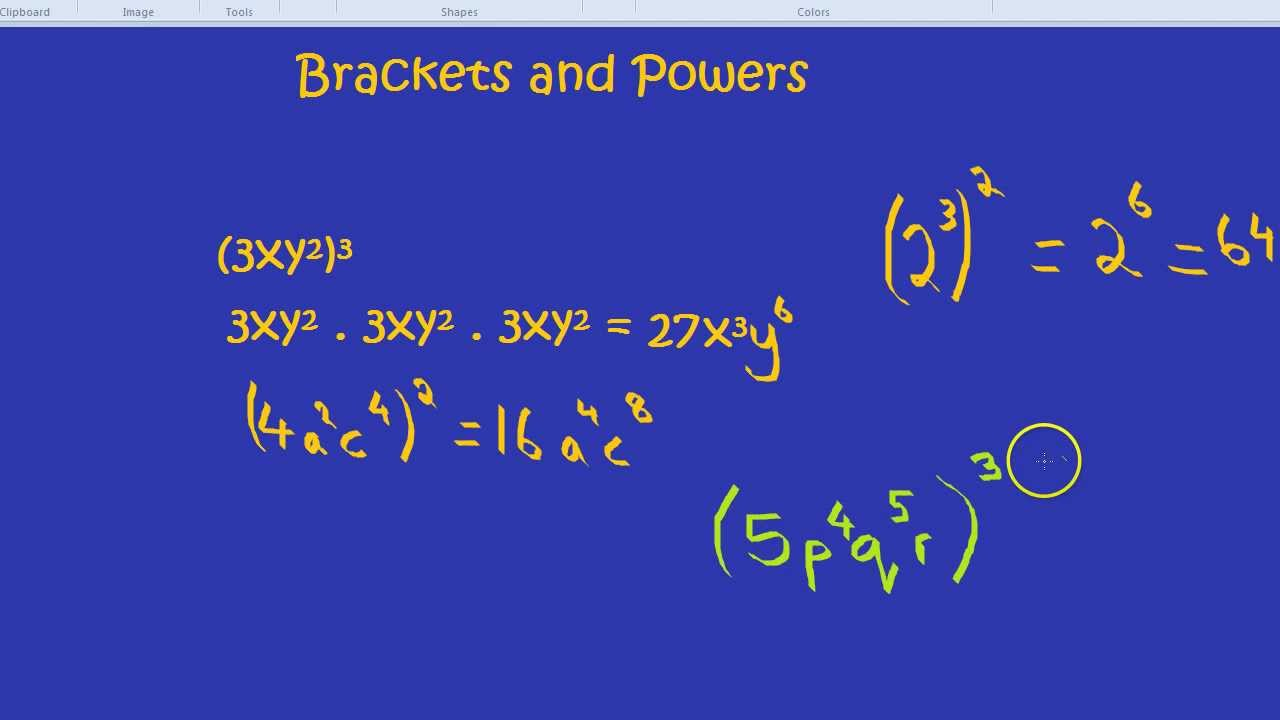 Brackets And Powers