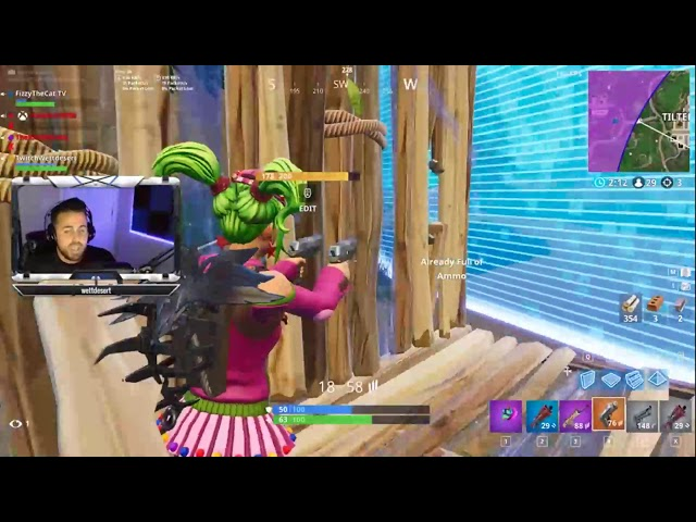 Part 2: Freestyle Rapping while playing Fortnite (100 Person Twitch Raid from Instagram Memes)