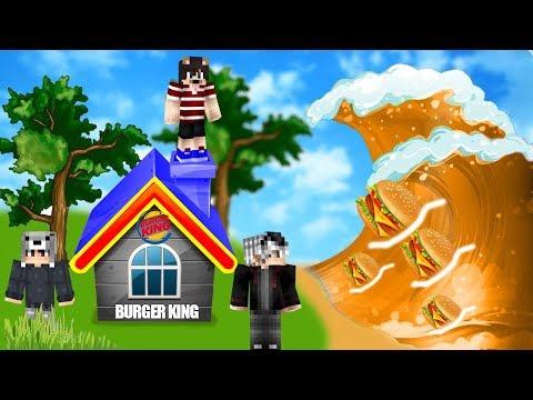HAMBURGER TUSUNAMİ VS BURGER KİNG EV #17 - Minecraft