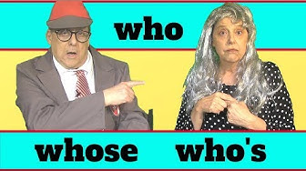 Who, whose and who's  - an English grammar lesson