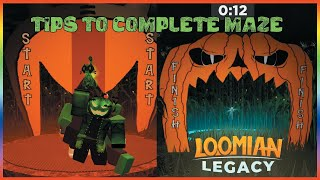 (Halloween) HOW TO COMṖLETE MAZE AND GET THE KEY IN LOOMIAN LEGACY - ROBLOX