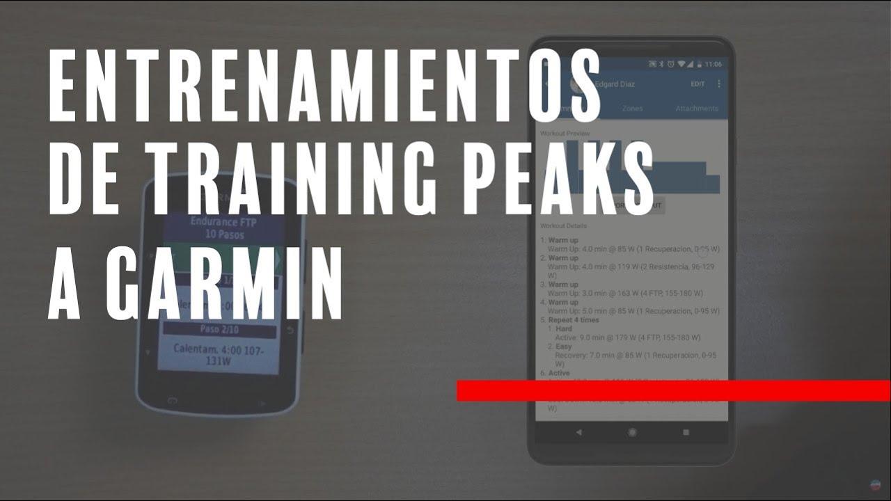 Como descargar Training Peaks a tu Garmin