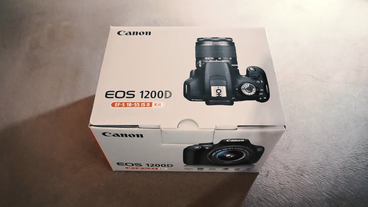 Unboxing Canon EOS 1200D Kit 18 55mm f 3 5 5 6 IS II DSLR