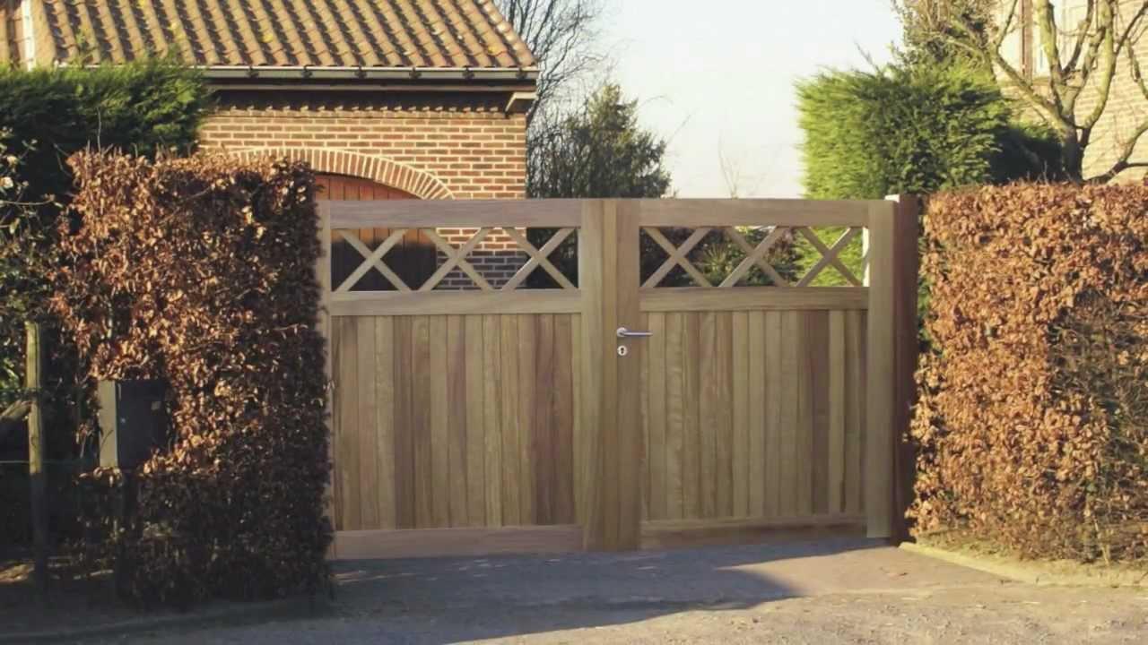 Veranclassic fabrikant van tuinhout poorten en afsluitingen youtube - Porte de jardin ...