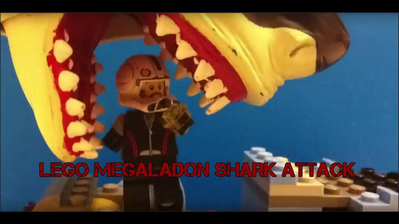 LEGO Megalodon Shark Attack - YouTube
