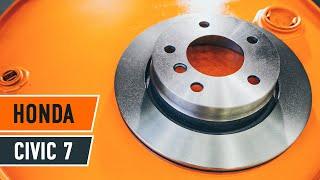 Kaip pakeisti priekiniai stabdžių diskai ir priekiniai stabdžių kaladėlės HONDA CIVIC 7