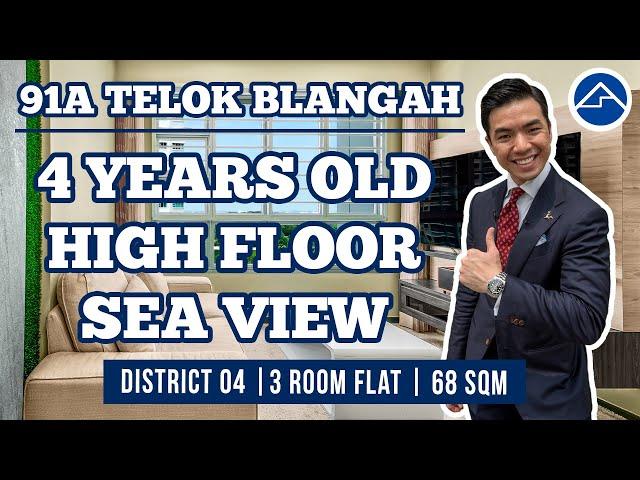 91A Telok Blangah Parcview | 3 room flat [Gorgeous Sea View]