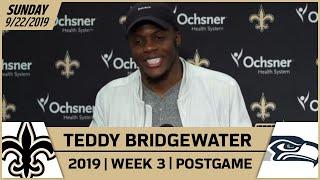 Teddy Bridgewater Postgame Reactions After Week 3 Win vs Seahawks | New Orleans Saints