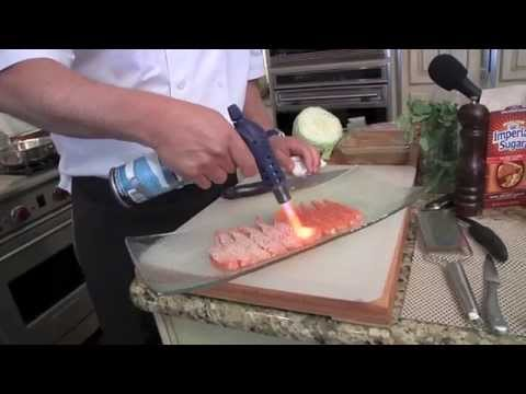 How To Cook Salmon W Blow Torch - Richard Chamberlain