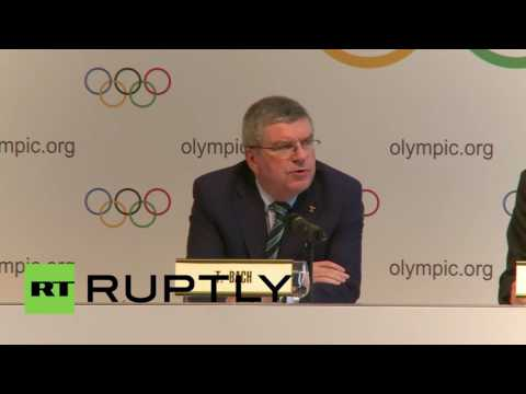 Switzerland: Russian athletes can compete as members of Russian Olympic Committee - IOC's Bach