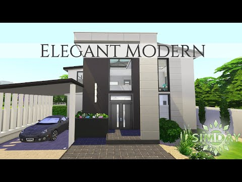 elegant-modern-home-(base-game-tricks)-|-the-sims-4-stop-motion-speed-build