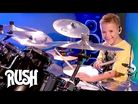 THE SPIRIT OF RADIO - RUSH (7 year old Drummer) Drum Cover by Avery Drummer Molek