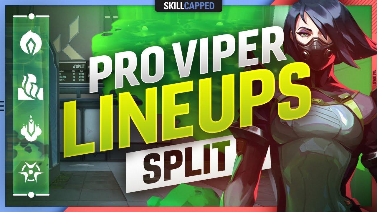 The BEST PRO VIPER LINEUPS, SPOTS, & SETUPS for SPLIT - Valorant Guide, Tips and Tricks