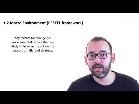 1.2 Macro Environment of Organisation (PESTEL framework)