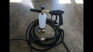 Electric Pressure Washer Quick Disconnects + Short Foam Gun