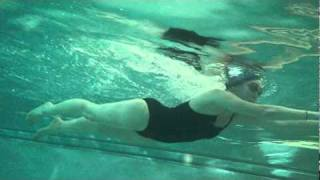 Chrissy Underwater Breast Stroke Front View