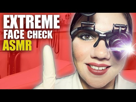 ASMR Inch by Inch FACE EXAM Role Play Binaural Sounds
