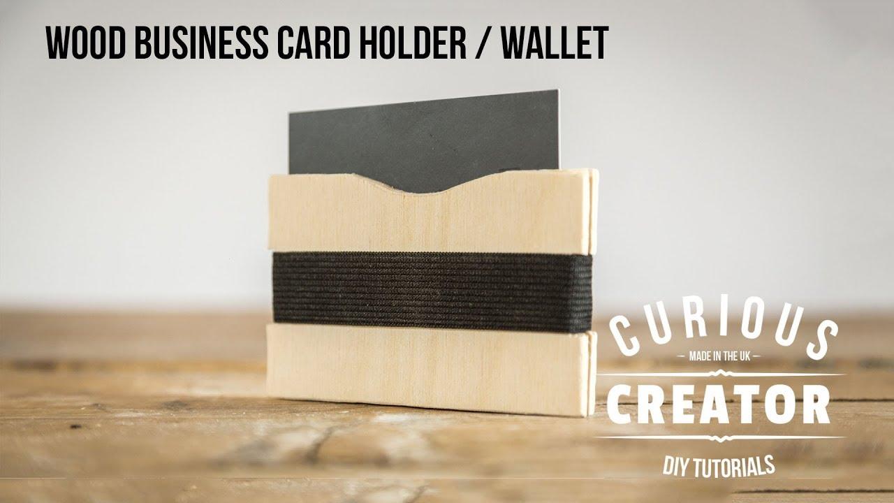 23 wood business card holder wallet diy curious creator youtube 23 wood business card holder wallet diy curious creator reheart Choice Image