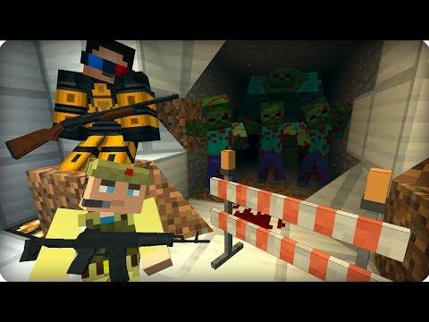 Зомби прорвали нижний этаж ЧАСТЬ 21 Зомби апокалипсис в майнкрафт   Minecraft   Сериал