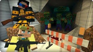 Зомби прорвали нижний этаж [ЧАСТЬ 21] Зомби апокалипсис в майнкрафт! - (Minecraft - Сериал)