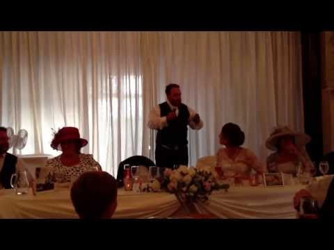 Best Grooms Speech EVER !!!  Rose & Carl's Wedding 12/09/13