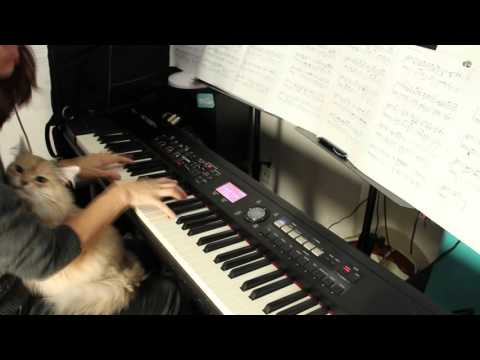 Pearl Jam -Yellow Ledbetter -piano cover with a cat