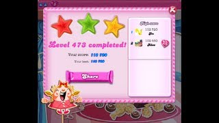 Candy Crush Saga Level 473 ★★★ NO BOOSTER