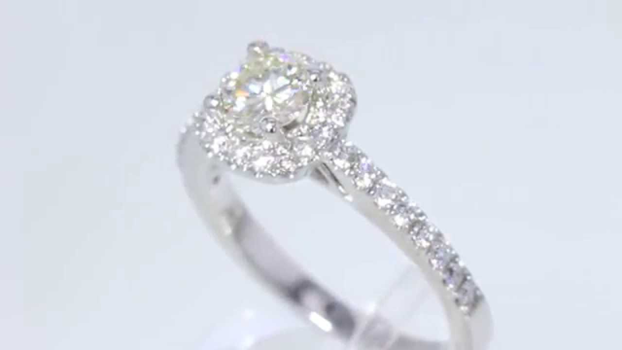 1 10CT Round Brilliant Diamond Halo Engagement Ring Cert Appr $5K $2250 You