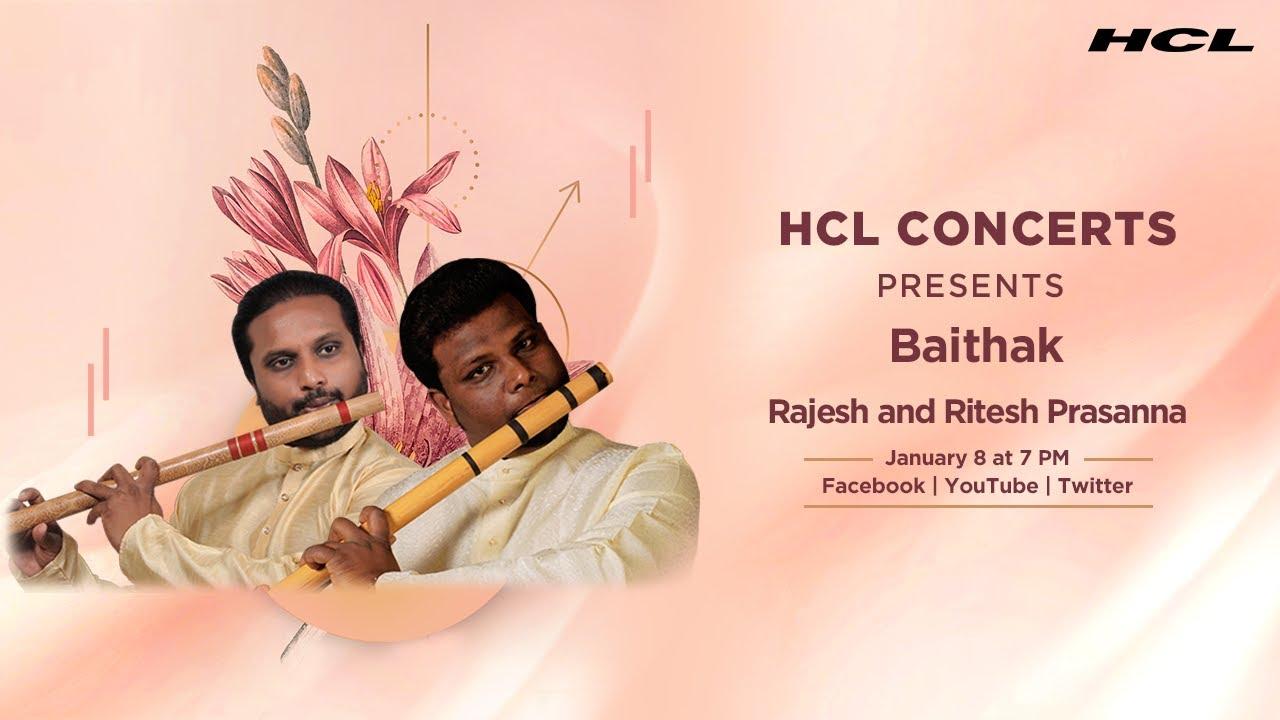 HCL Concerts Baithak Ep: 41  - Rajesh & Ritesh Prasanna