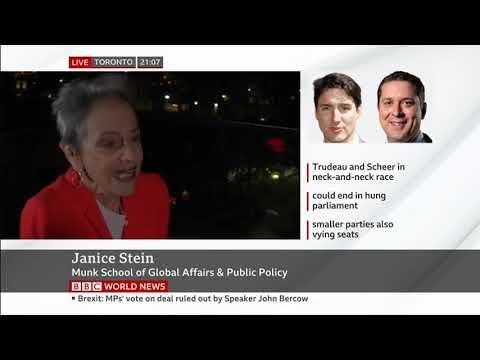 Janice Stein on BBC World News - October 21, 2019
