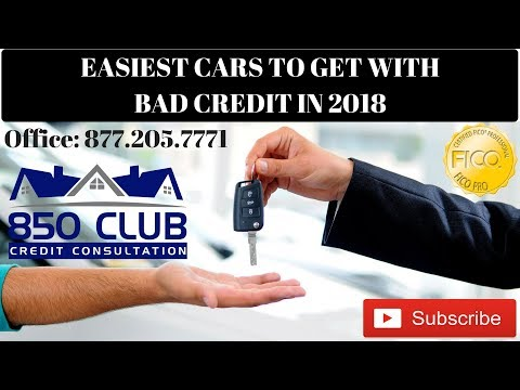 Easiest Cars To Finance With Bad Credit In 2018 - 850 Club Credit Consultation