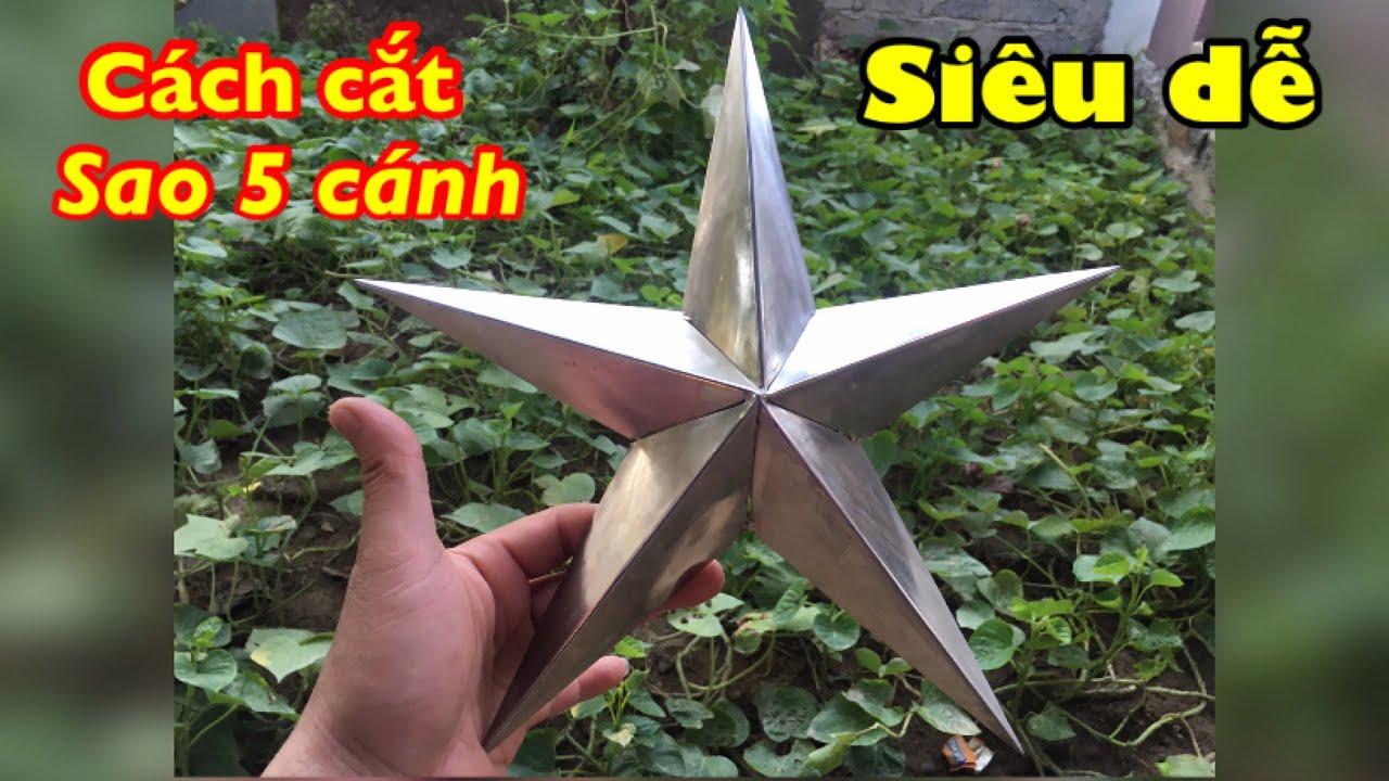 Cách cắt ngôi sao năm cánh sắt inox Đơn giản Chính xác | How to cut the 5-pointed star