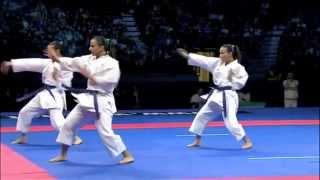 Karate Female Team Kata Bronze Medal - Serbia vs Italy - WKF World Championships Belgrade 2010 (2/2)