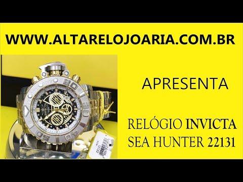 Relógio Invicta sea hunter22131gigante58mm na www.altarelojoaria.br