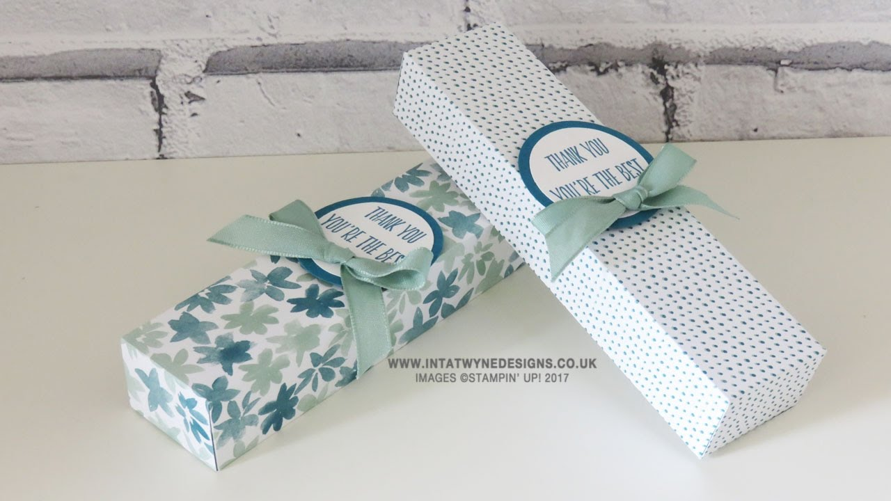 Fold Flat Teacher Pen Gift Box Using Blooms and Bliss DSP - YouTube