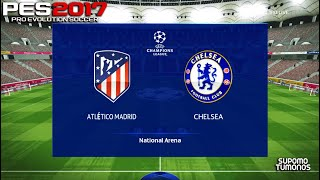 PES 2017 I Atletico Madrid vs Chelsea Champions League Match 2021