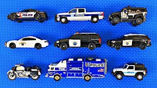 Police Cars for Kids #1 - 3 | Learn Police Vehicle Names & Colors | Fun Educational Organic Learning