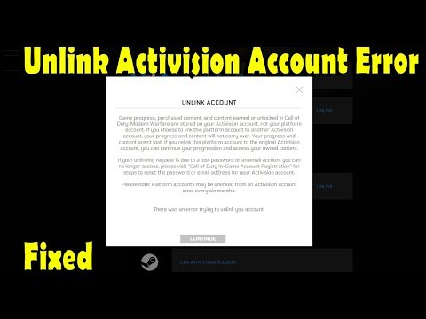 How To Unlink Activision Account From Battlenet Error Fixed-There Is An Error To Unlink Your Account