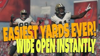 EASIEST YARDS U WILL GET IN MADDEN 19! UNKNOWN Glitch formation for BIG Catch & Run Money Play Tips