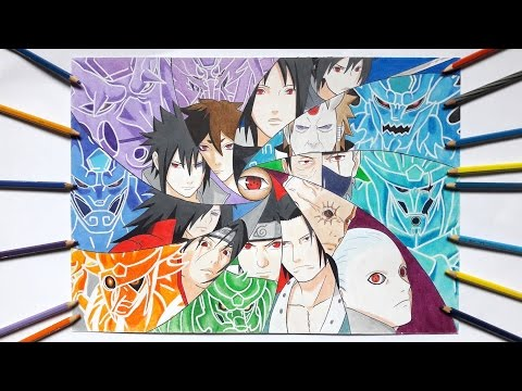 Speed Drawing - Sharingan Users & Their Susanoo (Requested)