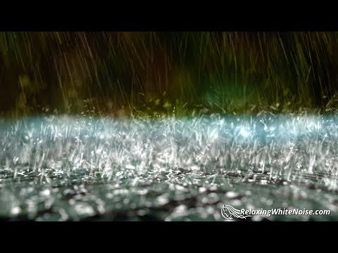 Rain Downpour on Tin Roof   Relaxation Sound for Sleep   White Noise 10 Hours