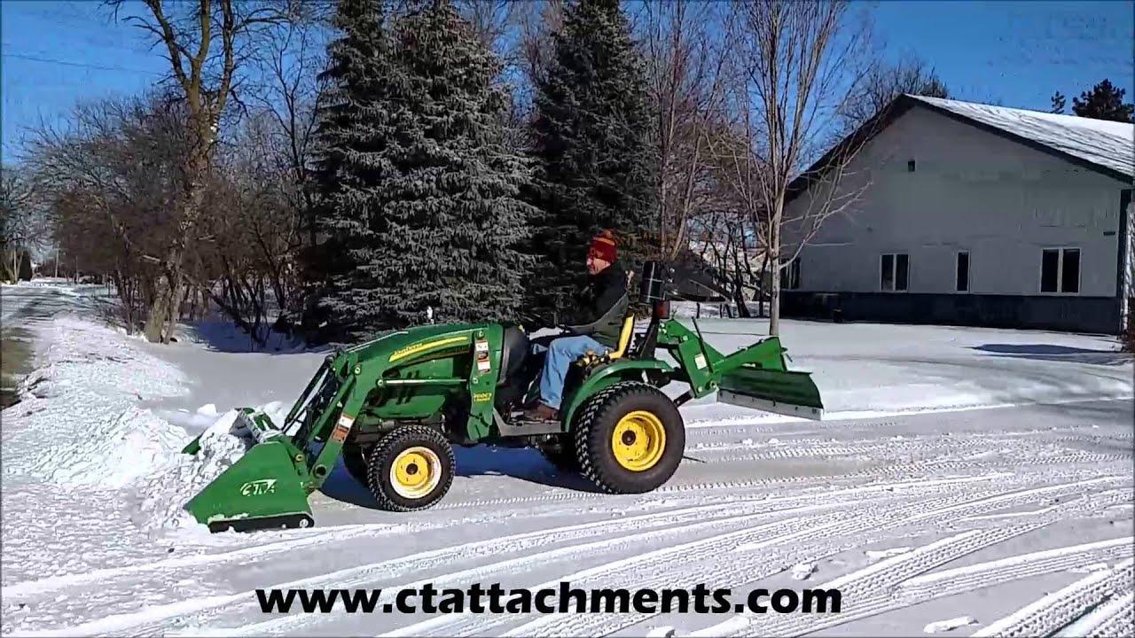 John Deere 1026r Loader Snow Plow : Snow pusher for john deere compact tractor doovi