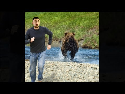 man outruns giant bear, then this happens...