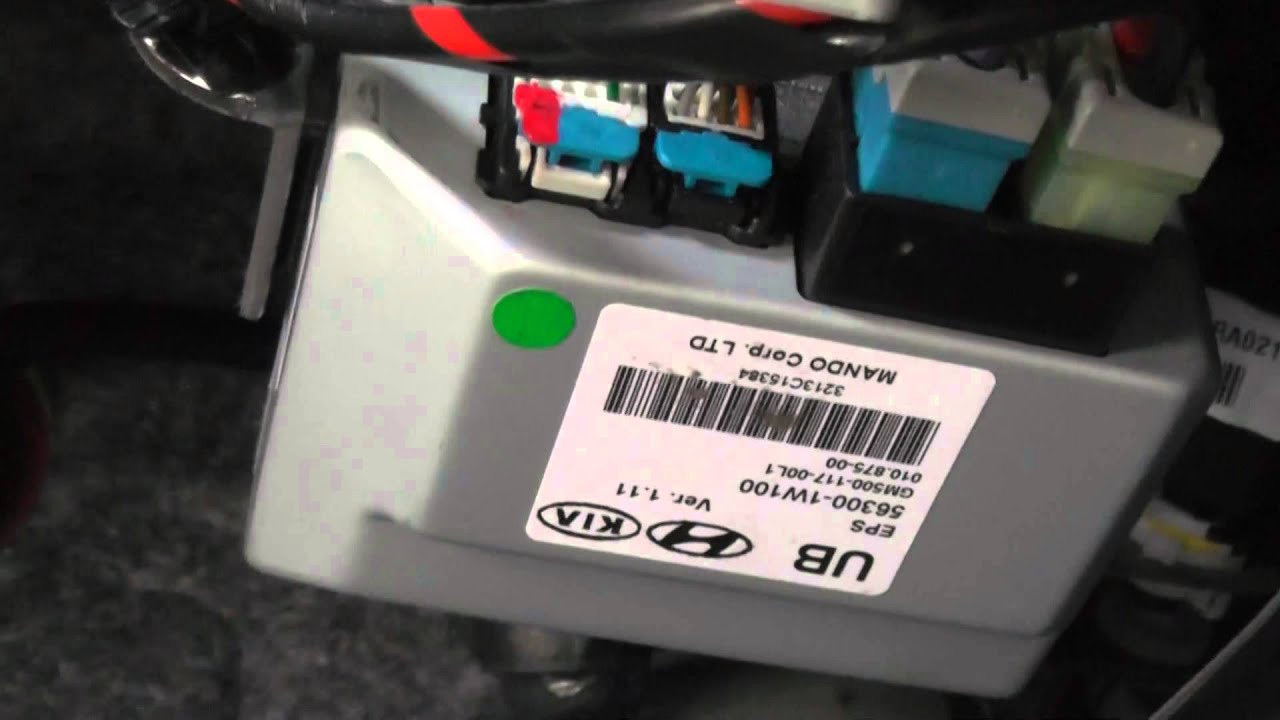 2014 kia rio eps module electronic power steering  [ 1280 x 720 Pixel ]