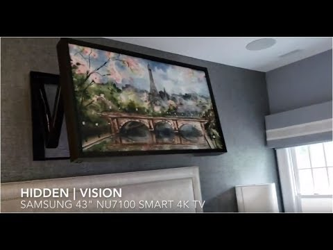 Hidden Vision Automated Tv Mount Extends Over Bed Youtube