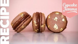 SALTED CARAMEL CHOCOLATE MACARONS | Full Recipe & How-To! | Cupcake Jemma
